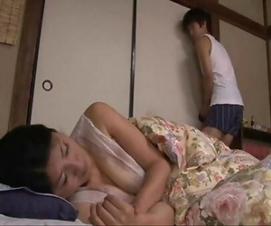 japanese sleeping mom