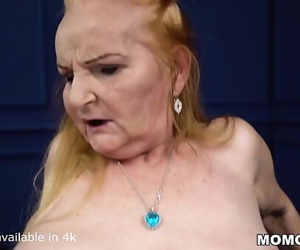Fat blondie mature takes a..