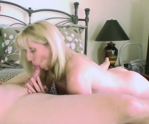 53 year old Blonde sucks and..