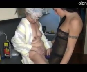 Granny and Girl Fucking in..