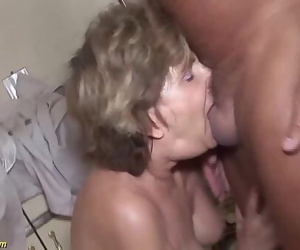 79 years old mom cruel anal..