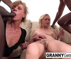 A duo of horny grannies get..