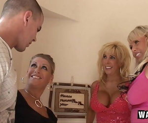 3 Nasty Housewives Gangbang..