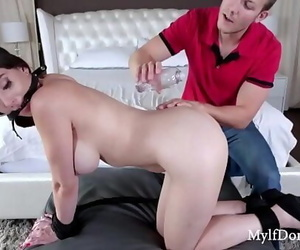 Busty Mummy Enjoys It Rough-..