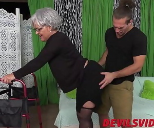 Fat ass granny gets dicked..