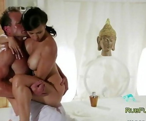 Busty deep-throaters fucked..