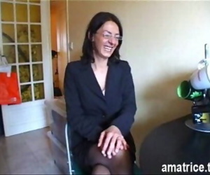 Mature pounded in pantyhose