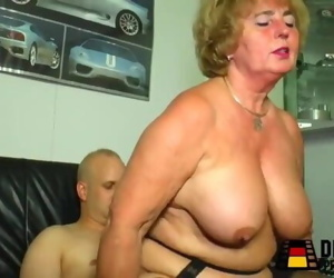Granny step-mother is horny,..