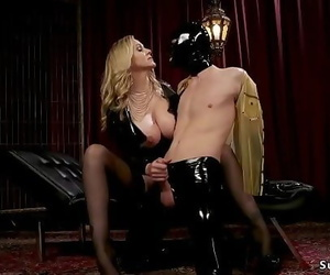 Masculine in slave mask anal..